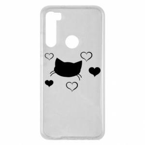 Xiaomi Redmi Note 8 Case Cat in love