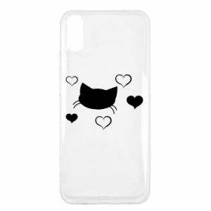 Xiaomi Redmi 9a Case Cat in love