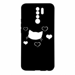 Etui na Xiaomi Redmi 9 Zakochany kot