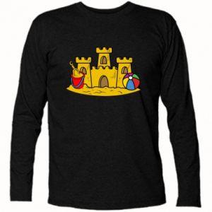 Koszulka z długim rękawem Zamek z piasku - PrintSalon