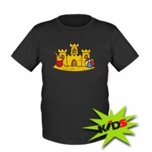 Dziecięcy T-shirt Zamek z piasku - PrintSalon
