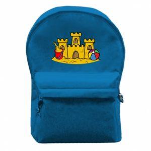 Plecak z przednią kieszenią Zamek z piasku - PrintSalon