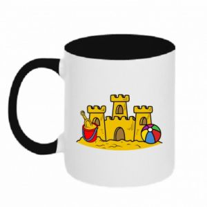 Two-toned mug Sand castle