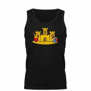 Męska koszulka Zamek z piasku - PrintSalon