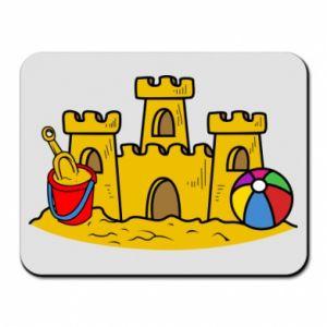Podkładka pod mysz Zamek z piasku - PrintSalon