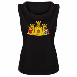 Damska koszulka Zamek z piasku - PrintSalon
