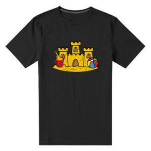 Men's premium t-shirt Sand castle