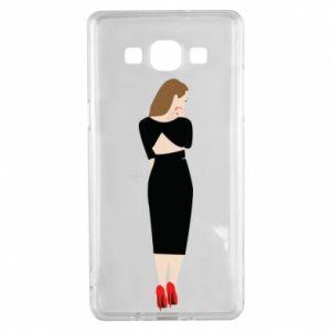 Etui na Samsung A5 2015 Zamyślona dziewczyna
