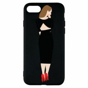 Etui na iPhone SE 2020 Zamyślona dziewczyna