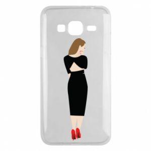 Etui na Samsung J3 2016 Zamyślona dziewczyna