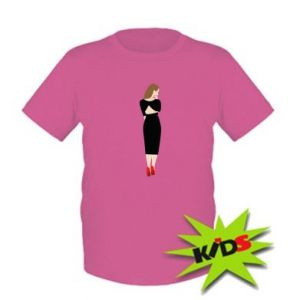 Kids T-shirt Pensive girl
