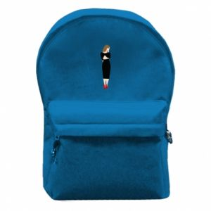 Backpack with front pocket Pensive girl