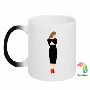 Chameleon mugs Pensive girl