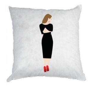 Poduszka Zamyślona dziewczyna