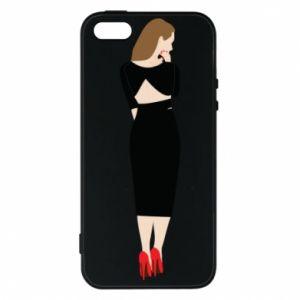 Etui na iPhone 5/5S/SE Zamyślona dziewczyna