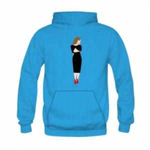 Bluza z kapturem dziecięca Zamyślona dziewczyna