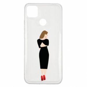 Etui na Xiaomi Redmi 9c Zamyślona dziewczyna