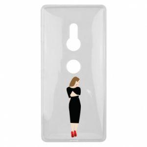 Etui na Sony Xperia XZ2 Zamyślona dziewczyna