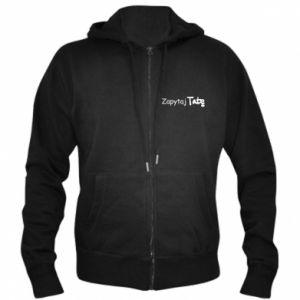 Men's zip up hoodie Ask Dad - PrintSalon