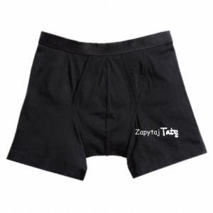 Boxer trunks Ask Dad - PrintSalon