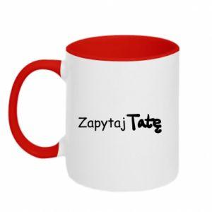 Two-toned mug Ask Dad - PrintSalon