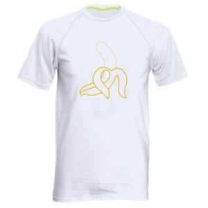 Men's sports t-shirt Outline banana