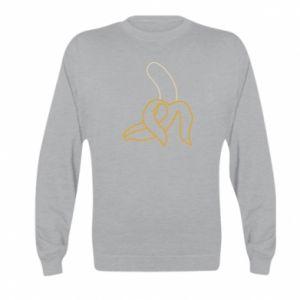 Kid's sweatshirt Outline banana