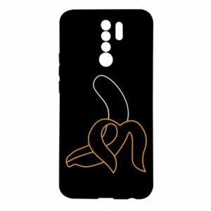 Xiaomi Redmi 9 Case Outline banana