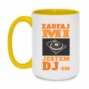 Kubek dwukolorowy 450ml Zaufaj mi  jestem DJ-em.