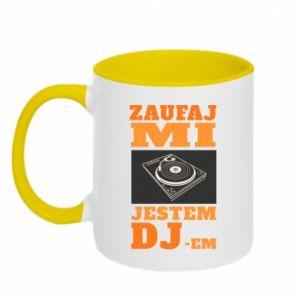 Kubek dwukolorowy Zaufaj mi  jestem DJ-em.