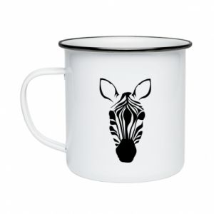 Enameled mug Striped zebra
