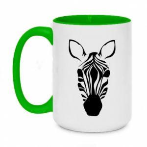 Two-toned mug 450ml Striped zebra