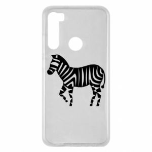 Etui na Xiaomi Redmi Note 8 Zebra with color stripes