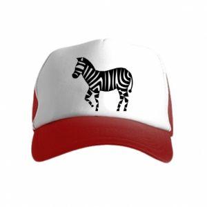 Czapka trucker dziecięca Zebra with color stripes