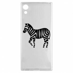 Etui na Sony Xperia XA1 Zebra with color stripes