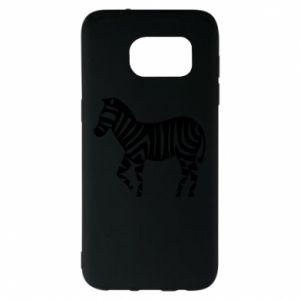 Etui na Samsung S7 EDGE Zebra with color stripes