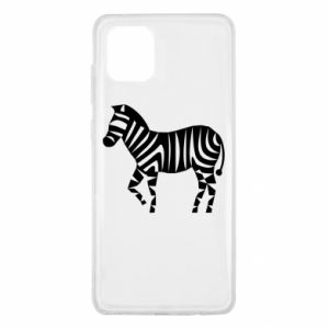 Etui na Samsung Note 10 Lite Zebra with color stripes