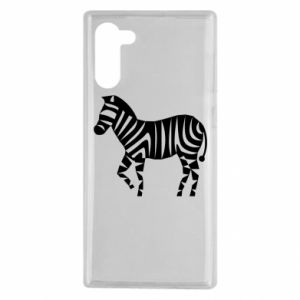 Etui na Samsung Note 10 Zebra with color stripes