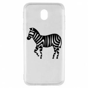 Etui na Samsung J7 2017 Zebra with color stripes