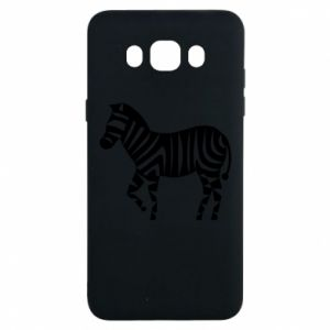 Etui na Samsung J7 2016 Zebra with color stripes