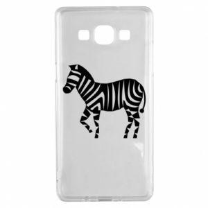 Etui na Samsung A5 2015 Zebra with color stripes