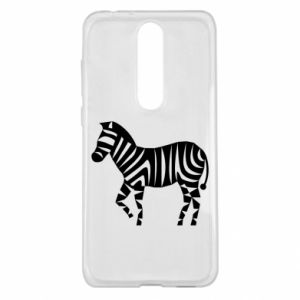 Etui na Nokia 5.1 Plus Zebra with color stripes
