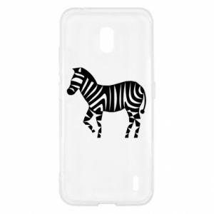 Etui na Nokia 2.2 Zebra with color stripes
