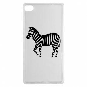 Etui na Huawei P8 Zebra with color stripes