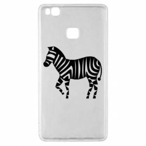 Etui na Huawei P9 Lite Zebra with color stripes