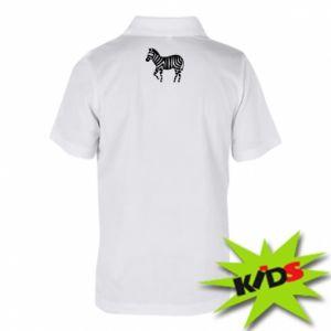 Koszulka polo dziecięca Zebra with color stripes