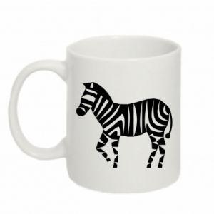Kubek 330ml Zebra with color stripes