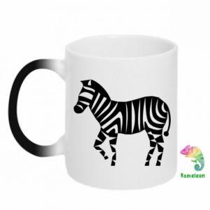 Kubek-kameleon Zebra with color stripes