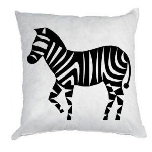 Poduszka Zebra with color stripes