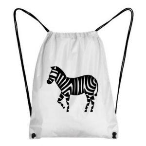 Plecak-worek Zebra with color stripes